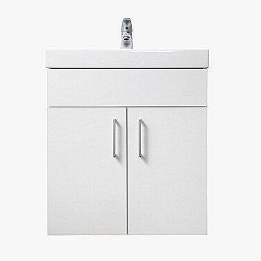 Alakaappi IDO Select Large 594x620x490 mm ovilla valkoinen korkeakiilto