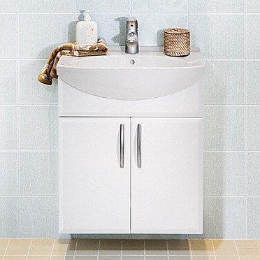 Alakaappi IDO Select Medium 594x650x370 mm ovilla valkoinen sileä