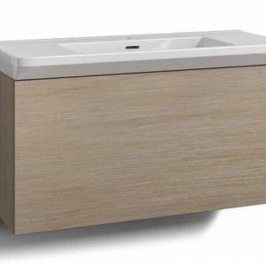 Alaosa Forma 100x35 + Fjord-pesuallas 1 laatikko vaalea tammi