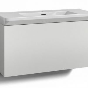 Alaosa Forma 100x35 + Fjord-pesuallas 1 laatikko valkoinen