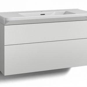 Alaosa Forma 100x35 + Fjord-pesuallas 2 laatikkoa valkoinen