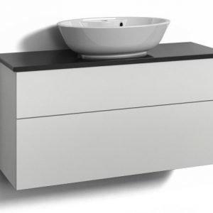 Alaosa Forma 100x35 + taso + pesuallas 2 laatikkoa valkoinen
