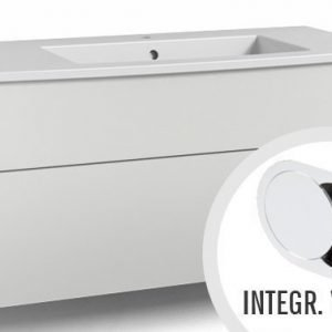 Alaosa Forma 100x45 + pesuallas 2 laatikkoa/integroitu vedin 7 valkoinen