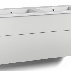 Alaosa Forma 120x45 Square-kaksoispesuallas 2 laatikkoa valkoinen