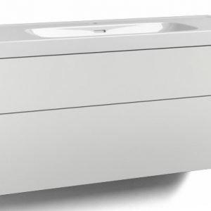 Alaosa Forma 120x45 + pesuallas 2 laatikkoa valkoinen