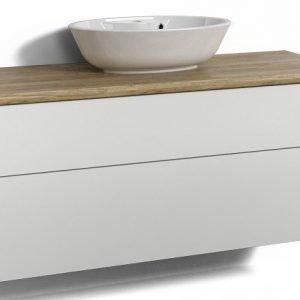 Alaosa Forma 120x45 + taso + pesuallas 2 laatikkoa valkoinen