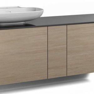 Alaosa Forma 140x45 + taso + pesuallas 2 laatikkoa/1 push open -ovi vaalea tammi