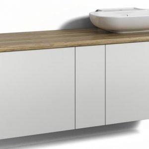 Alaosa Forma 140x45 + taso + pesuallas 2 laatikkoa/1 push open -ovi valkoinen