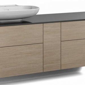 Alaosa Forma 140x45 + taso + pesuallas 4 laatikkoa/1 push open -ovi vaalea tammi