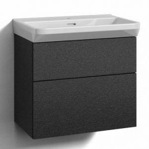 Alaosa Forma 60x35 + pesuallas 2 laatikkoa musta tammi