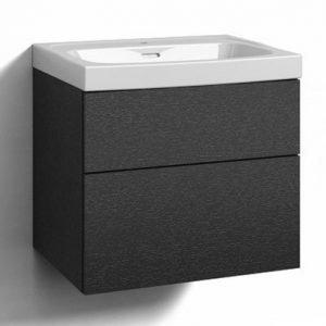 Alaosa Forma 60x45 + pesuallas 2 laatikkoa musta tammi