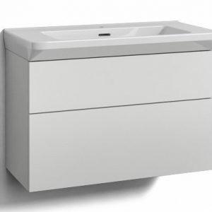 Alaosa Forma 80x35 + Fjord-pesuallas 2 laatikkoa valkoinen