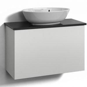 Alaosa Forma 80x35 + taso + pesuallas 1 laatikko valkoinen