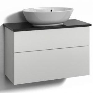 Alaosa Forma 80x35 + taso + pesuallas 2 laatikkoa valkoinen