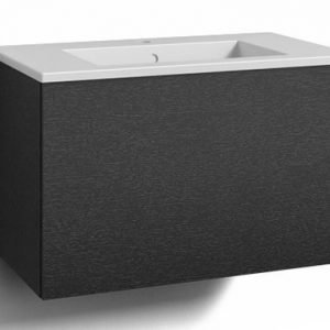 Alaosa Forma 80x45 + pesuallas 1 laatikko musta tammi