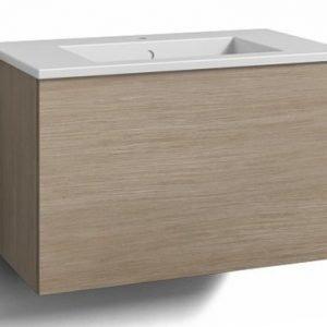 Alaosa Forma 80x45 + pesuallas 1 laatikko vaalea tammi