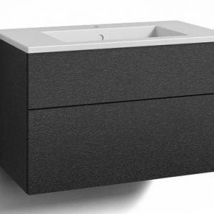 Alaosa Forma 80x45 + pesuallas 2 laatikkoa musta tammi