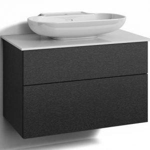 Alaosa Forma 80x45 + taso + pesuallas 2 laatikkoa musta tammi