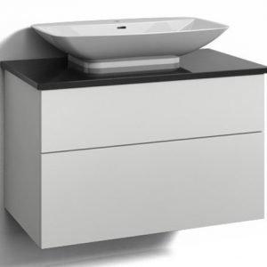 Alaosa Forma 80x45 + taso + pesuallas 2 laatikkoa valkoinen