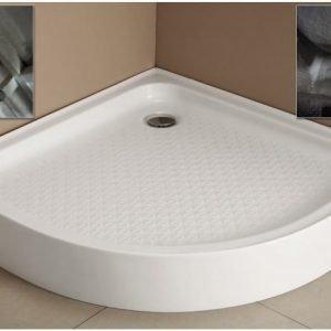 Allas Adagio suihkunurkkaukselle 90x90x14 cm valkoinen