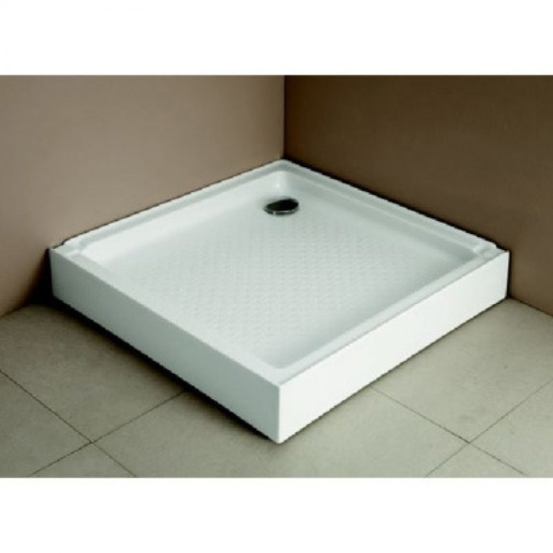Allas Breve suihkunurkkaukselle 80x80x14 cm valkoinen