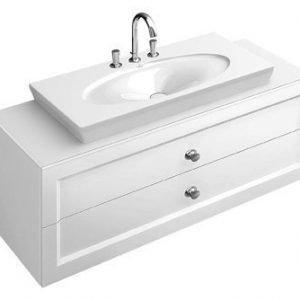 Allaskaappi 2 vetolaatikolla Villeroy & Boch La Belle A583 1350x420x540 mm kiiltävä valkoinen + pesuallas
