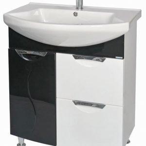 Allaskaappi Aquarodos Premium ja allas Evita musta/valkoinen 750x555x850mm