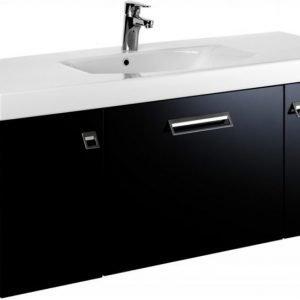 Allaskaappi Gustavsberg Logic 1812 Sinful Black 1200x450x395 mm