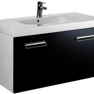 Allaskaappi Gustavsberg Logic 1890 Sinful Black 900x450x395 mm