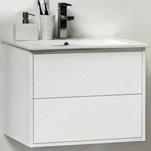 Allaskaappi Noro Avanti 750 valkoinen kiiltävä