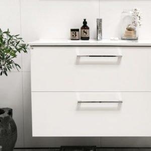 Allaskaappi Noro Home 900 valkoinen matta