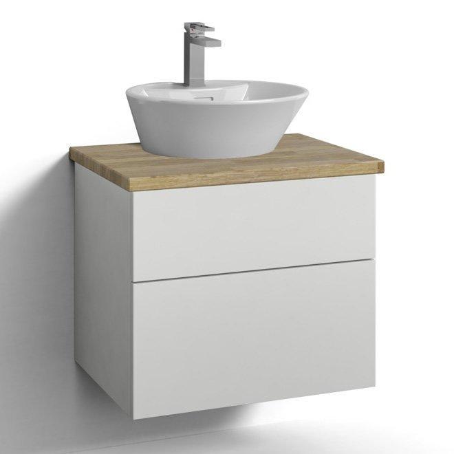 Allaskaappi Svedbergs Stil pöytätasolla ja malja-altaalla 60x45 valkoinen