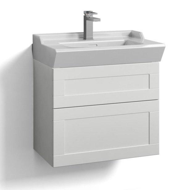 Allaskaappi Svedbergs Stil tasoaltaalla 60x35 valkoinen kehys