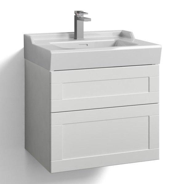 Allaskaappi Svedbergs Stil tasoaltaalla 60x45 valkoinen kehys