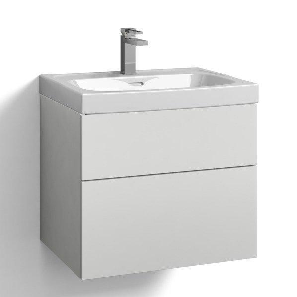 Allaskaappi Svedbergs Stil tasoaltaalla 60x45 valkoinen