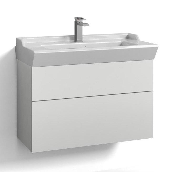 Allaskaappi Svedbergs Stil tasoaltaalla 80x35 valkoinen