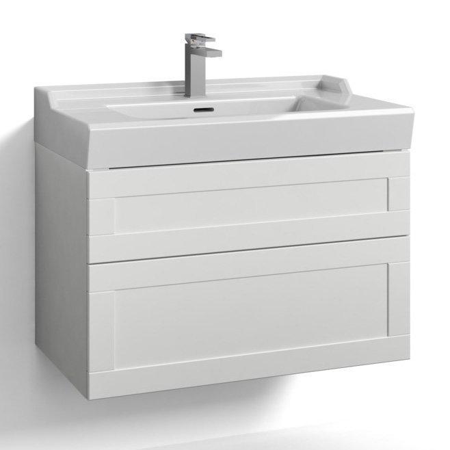 Allaskaappi Svedbergs Stil tasoaltaalla 80x45 valkoinen kehys