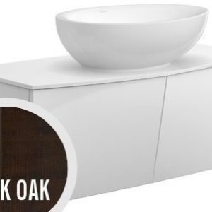 Allaskaappi Villeroy & Boch Aveo new generation A845 1016x400x508 mm Dark Oak + pesuallas