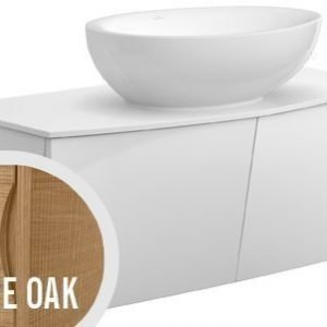 Allaskaappi Villeroy & Boch Aveo new generation A845 1016x400x508 mm Pure Oak + pesuallas