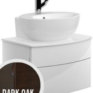 Allaskaappi Villeroy & Boch Aveo new generation A847 616x400x440 mm Dark Oak + pesuallas