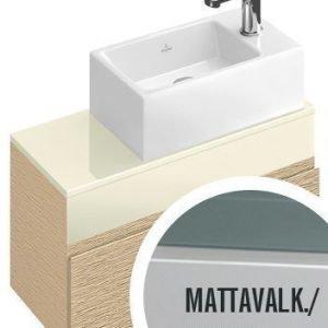 Allaskaappi Villeroy & Boch Memento C781 606x340x330 mm mattavalkoinen lakattu + käsienpesuallas oikealla