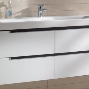 Allaskaappi Villeroy & Boch Subway 2.0 A698 1287x524x449 mm Glossy White + pesuallas