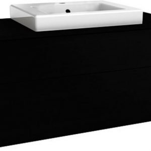 Allaskaappipaketti Gustavsberg Artic 48100 Black Oak 1000x520x460 mm