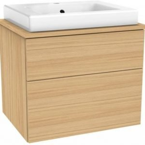 Allaskaappipaketti Gustavsberg Artic 4860 Natural Oak 600x520x460 mm