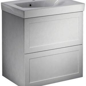 Allaskaappipaketti Gustavsberg Logic 1862 vetimet ja valaistu peilikaappi A402 60 classy white