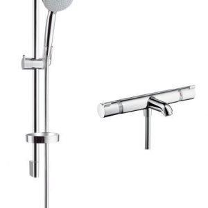 Amme- ja suihkuhana Hansgrohe Croma 100 Vario/Ecostat Comfort Combi termostaatti käsisuihkulla kromi (27747000)