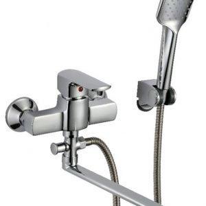 Amme- ja suihkuhana Kaleva 8758S käsisuihku pitkä kääntyvä juoksuputki kromi