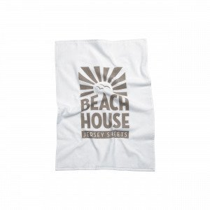 Beach House Logo Towel Pyyhe Valkoinen 50x70 Cm