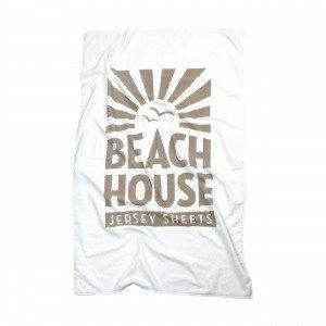 Beach House Logo Towel Pyyhe Valkoinen 90x150 Cm