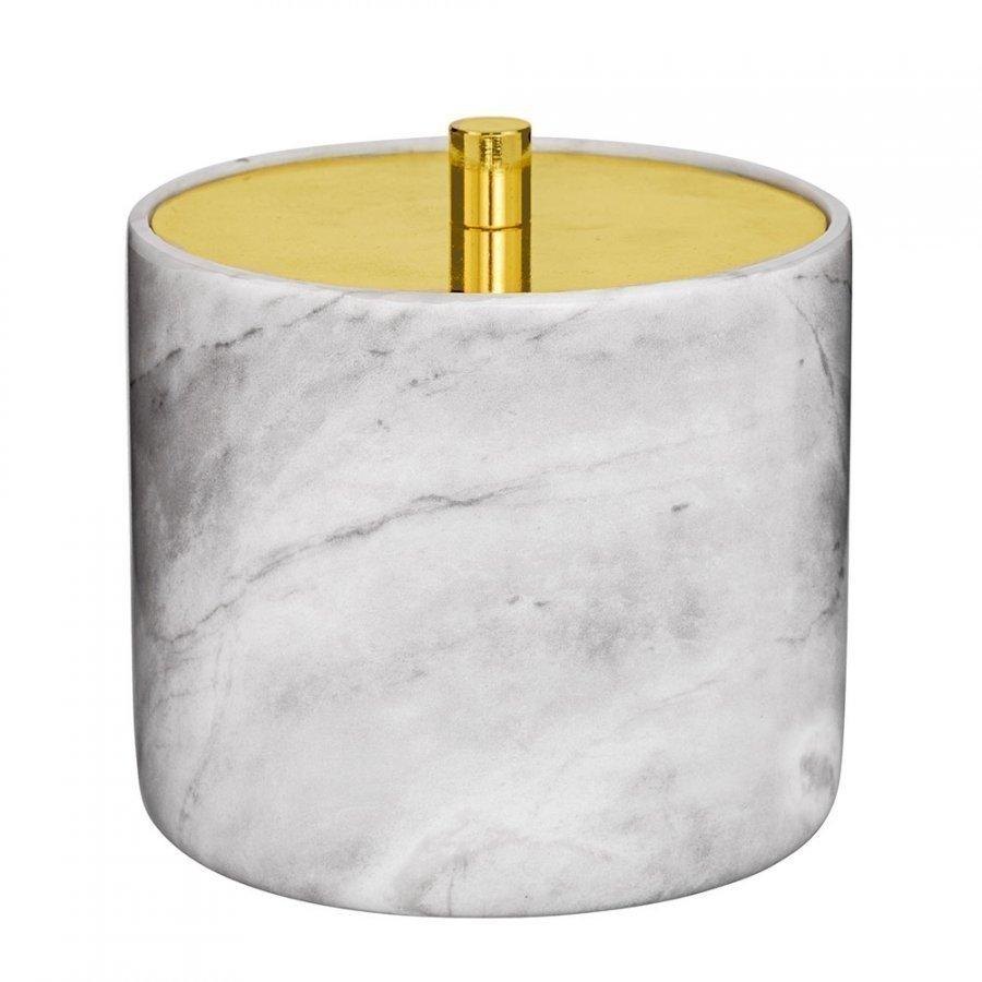 Bloomingville Marmori Säilytyspurkki 10 Cm Valkoinen/Kulta